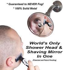 High Sierra's 1.5 GPM Low Flow Shower Head & Non-Fogging Shaving Mirror In One
