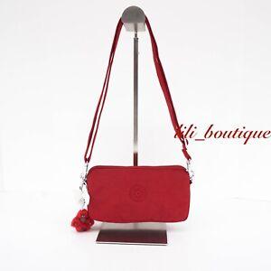NWT Kipling AC8636 Emilia Crossbody Mini Purse Bag Polyamide Cherry Red Tonal 49