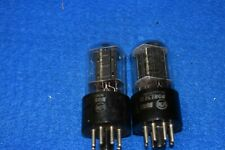 6SN7GT RCA White Letter Audio Receiver Guitar Wafer Base Vacuum Tubes Tested 2