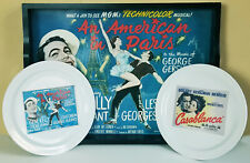 Pottery Barn TCM Archives AN AMERICAN IN PARIS Tray & Plate & CASABLANCA plate
