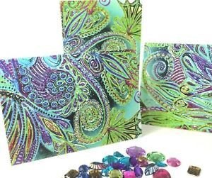 3 Small Cards, Envelopes Original Designs By Amie Shalna Gift Tags Greeting Card