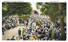 Band Shell Crowd Park Tampa Cigar City Florida 1920 Postcard Period Dress