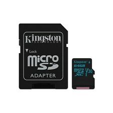 KINGSTON (64gb) MicroSD tarjeta uhs-1 SPEED Clase 3 (U3) con adaptador