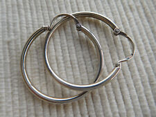 NEUF Jolie paire de boucles d/'oreilles créoles Ø 2cm 4gr Argent MASSIF N°751