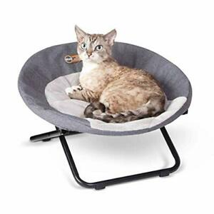 K&H PET PRODUCTS Elevated Cozy Cot Classy Gray Small 19 Inches