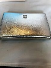 Ivanka Trump Women's Rio Passport Travel Wallet Metallic Silver Msrp 95.00 New