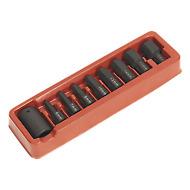 """Sealey AK5609 Impact Hex Bit & Holder Set 9pc 1/2""""Sq Drive"""