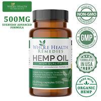 Pharmaceutical-Grade Hemp Oil Capsules, Pain Relief & Sleep-Aid & Anxiety Relief