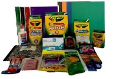 Back to School Crayola Crayons Markers Pencils Pens Notebooks Glue Erasers Ruler