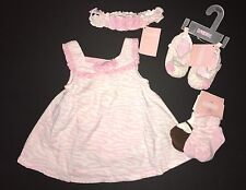 NWT Gymboree Zebra Baby 0-3 Months Pink Jumper Dress Shoes Socks & Headband