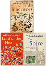 William Golding Collection 3 Books Set Lord of the Flies, The Inheritors, Spire
