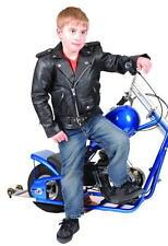 NEW KIDS BRANDO STYLE LEATHER BIKER JACKET MOTORCYCLE  2XLARGE