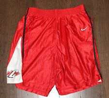 Nike Basketball Gym Shorts Men's Xl X-Large Red Chiefs Indians Arrowhead vtg 90s