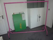 Heavy Duty Hot Pink Gloss Finish Clothes Rail 6FT x 5FT