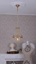 Korblüster Antikstil Kronleuchter Messing Kristalle Deckenlampe Leuchte vintage