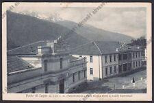 BRESCIA PONTE DI LEGNO 85 ASILO REGINA ELENA - SCUOLE Cartolina viaggiata 1924