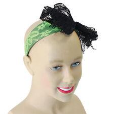 1980 GALLINA # noche Neón Cinta de cabeza encaje verde MADONNA Disfraz Accesorio