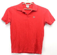 Lacoste Men's Polo Red Shirt Size 7 XL Short Sleeve CROCODILE