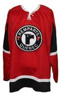 Any Name Number Size Quebec Remparts Hockey Jersey Red