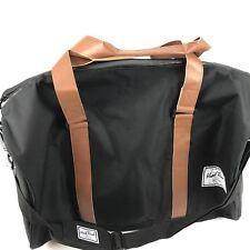 Hard Rock Cafe Biloxi Mississippi Black Brown Leather Straps Duffle Bag