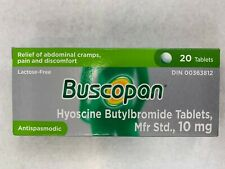 Buscopan Hyoscine Relief of Abdominal cramps & Pain Antispasmodic 20 TAB CANADA