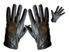 Nouveau femme noir en cuir véritable gants doux doublure thinsulate chaud hiver mode