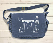 Japan Shrine Messenger Bag Inari Kitsune Fox Asian Shoulder Bag Anime Bookbag