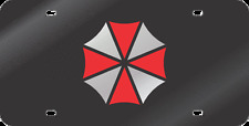 umbrella corporation custom design mirror acrylic laser cut license plate