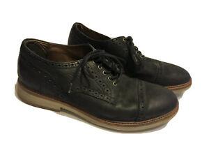 Frye Oxford Black Men's 10 Suede Shoes Plain Toe Lace Up ✔️ Preowned