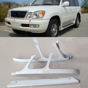 1998-2002 For Lexus LX470 Front Bumper Headlight Trim Under Network Primer 3PCS