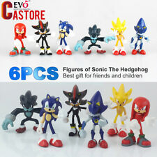 6Pcs/set Sonic The Hedgehog Action Figure PVC Collection Toy Kids Gift