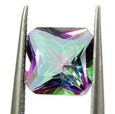 1.25 Ct Natural Rainbow Mystic Topaz 7 mm Princess Cut Loose Gemstone - 24923
