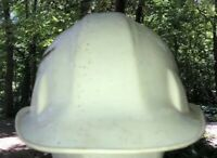 Cam-Hi Safety Cap 69 w Liner Made in the USA vintage White Hard Hat
