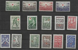L5480 SUOMI FINLAND Red Cross STAMPS