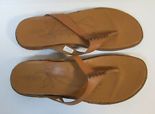 KEEN Womens sz 10 Cymbal Tan Alman Flip Flop Leather Casual Sandals Flats Shoes