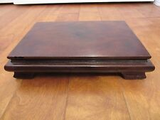"CHINESE LACQERED WOODEN STAND FOR A VASE OR STATUE TOP PLATFORM 6"" X 9"""