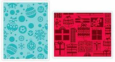 Sizzix Gifts, Ornaments & Snowflake Emboss 2pk set #657257 Retail $10.99 Retired