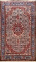 Excellent Vintage Geometric Mood Area Rug Hand-knotted Wool Oriental 7x10 Carpet