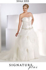 Bridal Wedding Dress Ivory/Silver #3353 SIGNATURE PLUS Privat Label BY G  20W