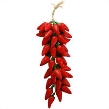 #45 Handpainted Southwest Ceramic Chili Ristras Red Jalapeno Pepper Fair Trade