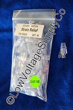 Platinum Tools Strain Relief 50 Pack 100035 Ethernet Network Cat EZ-RJ45 Clear