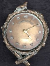 "Hen-Feathers Bronze Resin ""Live The Moment"" Wall Clock Branches Birds"