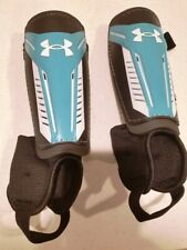 """Under Armour Soccer Shin Guards Size Small Teal/Aqua for Size 4'7"""" to 5'3"""""""