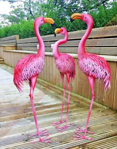 Metal Flamingo Ornament Indoor Outdoo and Garden Handmade Statue Sculpture Gift