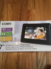 "Colby 7"" Widescreen Digital Photo Frame. Boxed bruised a little item New."