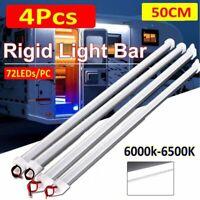 4X12V 5630 Led Strip Lights Bar Cool White Lamp Camping Caravan Boat Waterproof
