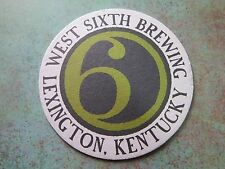 Beer Collectible COASTER ~*~ WEST SIXTH Brewing Co ~ Lexington, KENTUCKY Brewery