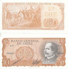 Cile - 10 escudos 1970 UNC Pick 143