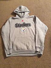 PITTSBURGH STEELERS Gray SWEATSHIRT Large hoody NWT made by NFL APPAREL