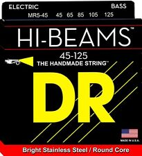DR MR5-45 HI-BEAM STAINLESS STEEL BASS STRINGS, MEDIUM GAUGE 5's - 45-125